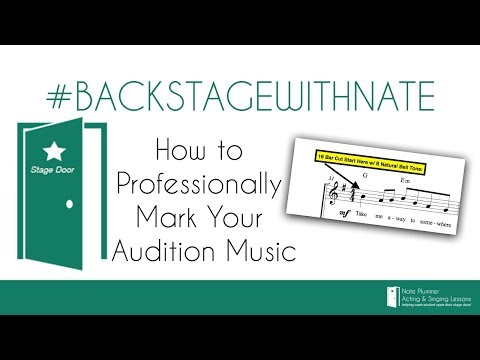 How to Professionally Mark Your Audition Music