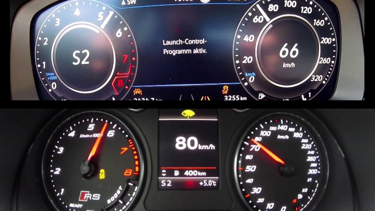 VW Golf R vs Audi RS3