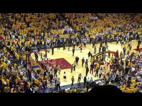Cleveland Cavaliers vs Atlanta Hawks, NBA Playoffs, Quicken Loans Arena in Cleveland, May 26, 2015.