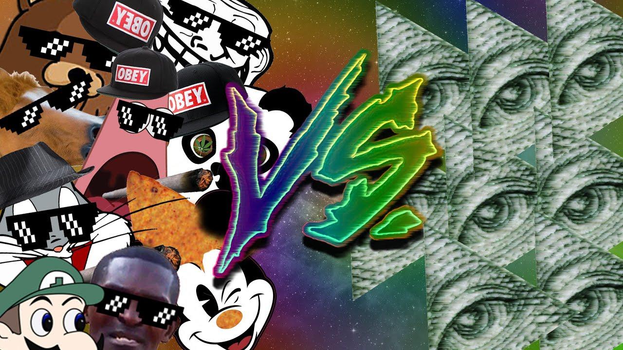 Wallpaper Bill Gravity Falls Mlg Vs Illuminati Mlg Fight Montage Youtube