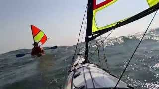 Kayak Sailing with Falcon Sails - East End of Kelleys Island Thumbnail