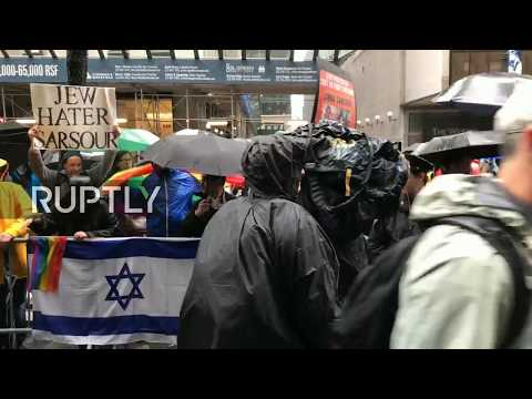LIVE: Milo Yiannopoulos leads protest against Linda Sarsour's keynote speech at CUNY