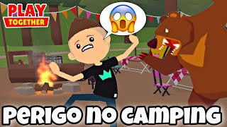 PERIGOS DE ACAMPAR A NOITE EM PLAY TOGETHER! PETER GAMES