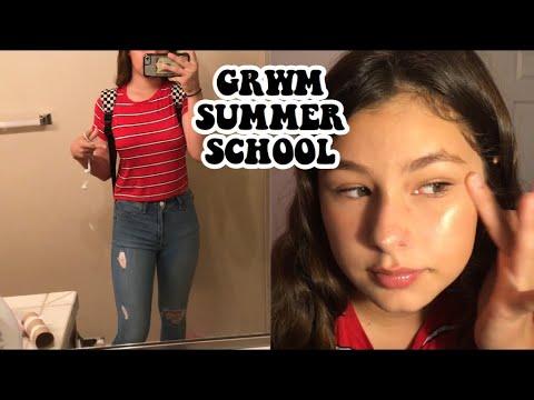 FIRST DAY OF SUMMER SCHOOL GRWM/VLOG (FRESHMAN) 2018