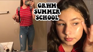 FIRST DAY OF SUMMER SCHOOL GRWM/VLOG (FRESHMAN) 2018