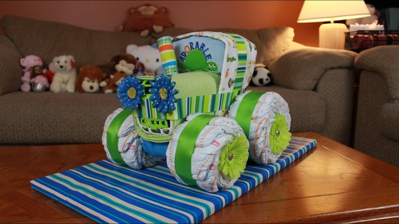 How To Make A Monster Truck Diaper Cake