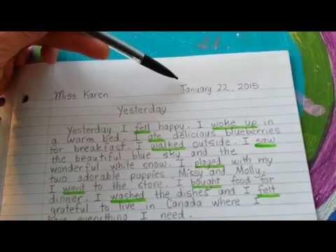 Journal Writing - Miss Karen Explains How To Write A Paragraph