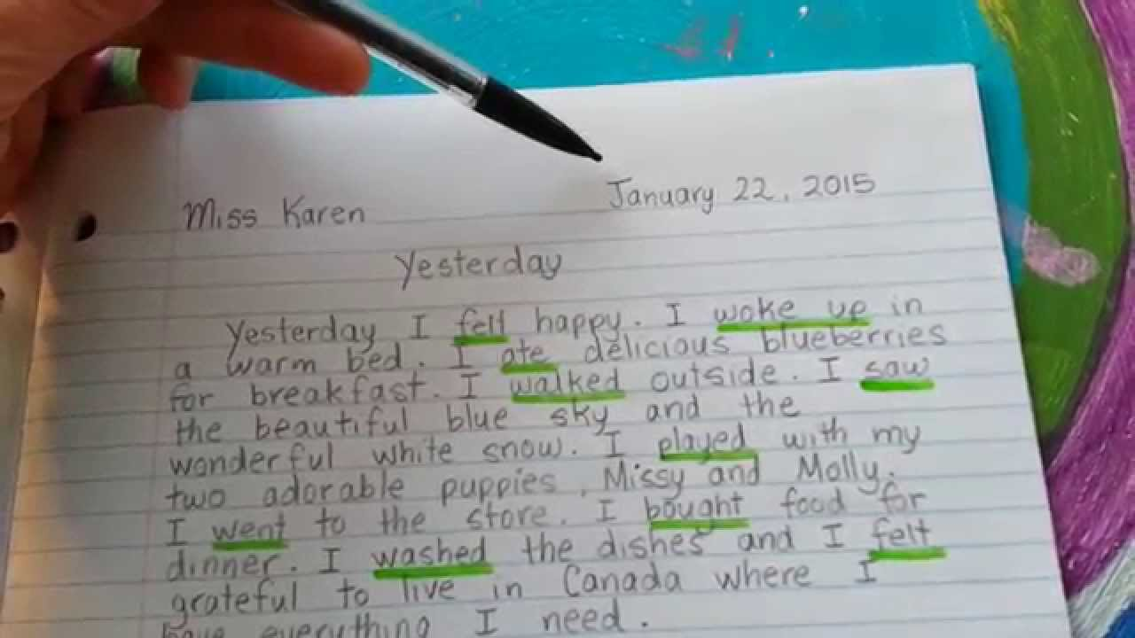 journal writing miss karen explains how to write a paragraph id