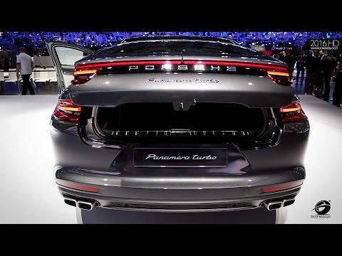 NEW Porsche Panamera TURBO - Interior + Exterior LIVE Paris Motor Show
