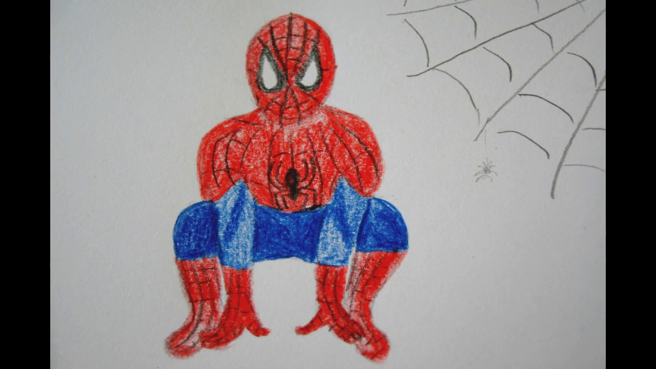 spiderman zeichnen f r kinder how to draw spiderman for kids. Black Bedroom Furniture Sets. Home Design Ideas