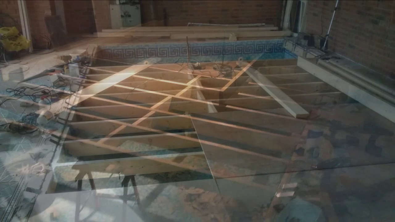 Putting A Floor On My Swimming Pool Youtube