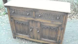 Vintage oak sideboard stripped top