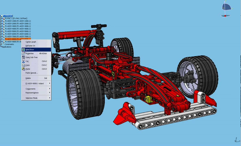 Lego Ferrari F1 8386 Catia V5 2 Avi Youtube
