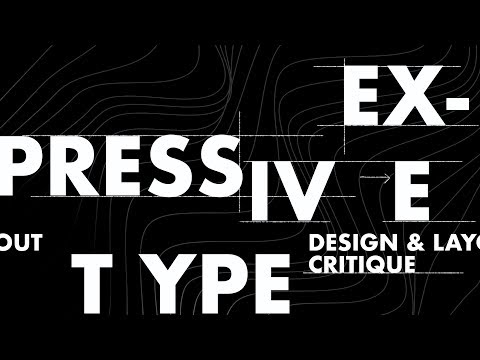 Expressive Typography Design & Layout Critique & Advice (Cut