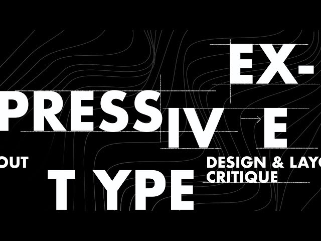 Expressive Typography Design & Layout Critique & Advice (Cutdown)