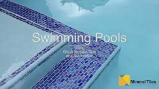 Automated Salt Water Swimming Pool with Iridescent Glass Tiles