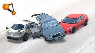 Beamng.drive - extreme side impact crashes #1