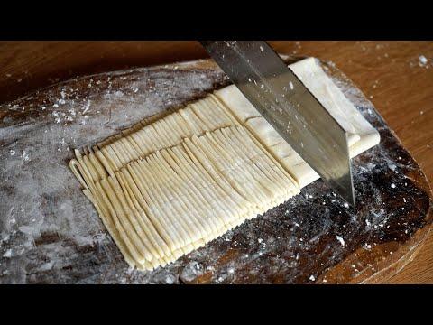 nouilles-maison-sans-machine-à-pâtes---technique-de-base-pour-étaler-et-couper-la-pâte-à-la-main-手擀面