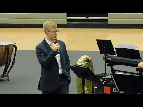 Paola Middle School Jazz band 05 02 2018 Announce Blues Machine