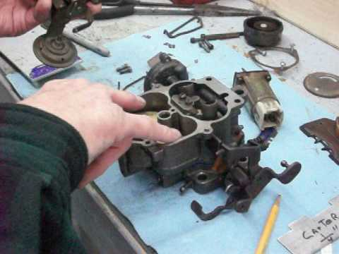 Setting the float level on a Carter BBD Jeep 1981 Carburetor (Float Circuit)
