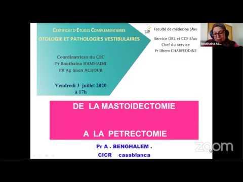 Webinaire: De la mastoïdectomie à la petrectomie et les cholestéatome intrapetreux  -  Pr Banghalem