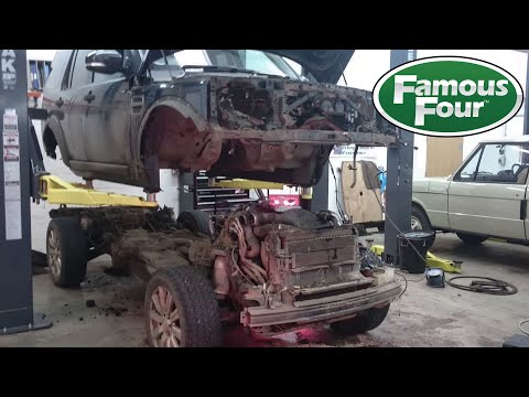 Land Rover Discovery 4 Body Removal (for Turbo change)