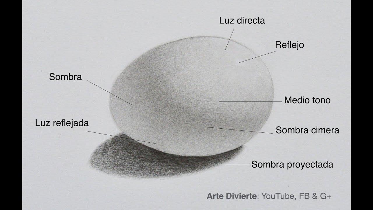 Cómo Dibujar Sombras Cómo Dibujar Un Huevo Youtube