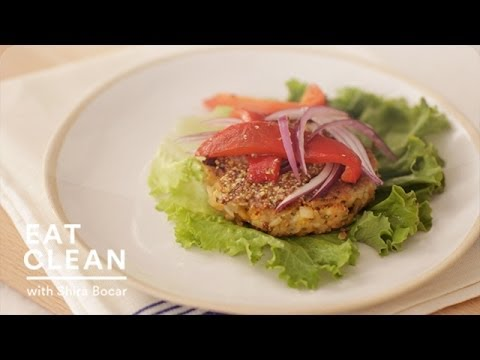 Chickpea-Brown Rice Veggie Burger - Eat Clean with Shira Bocar