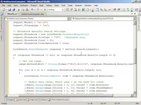 Consuming Web Services In Excel 2007