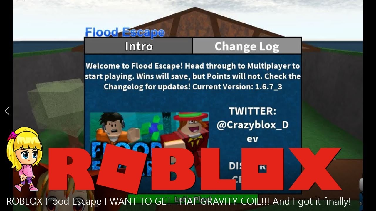 Chloe Tuber Roblox Flood Escape Gameplay I Want To Get That