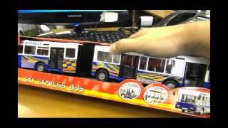 Игрушка городской  автобус Dickie(http://mamy-deti.blogspot.com - посетите наш сайт Автобус инерционный. Малыш откатывает машинку назад и она сама едет..., 2014-08-18T10:45:28.000Z)