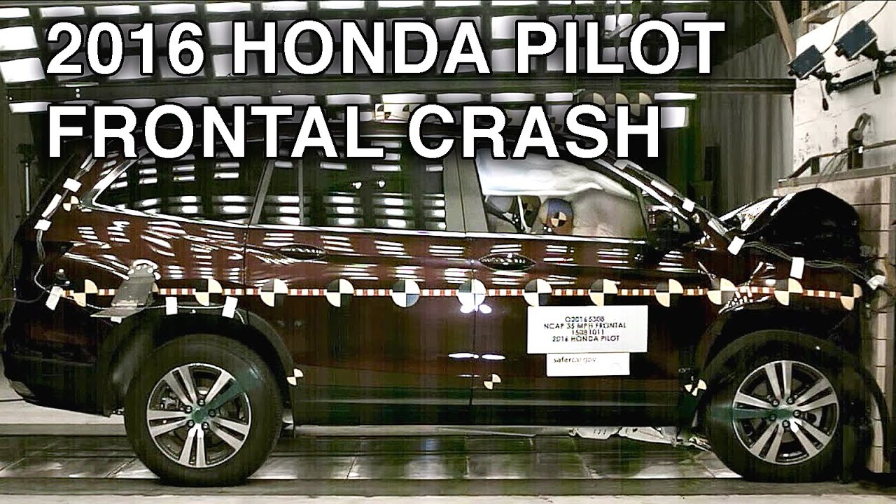 2016 honda pilot crash test frontal crash youtube. Black Bedroom Furniture Sets. Home Design Ideas