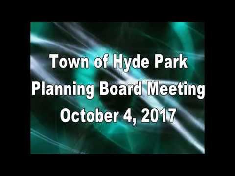 Hyde Park Planning Board 10-4-17