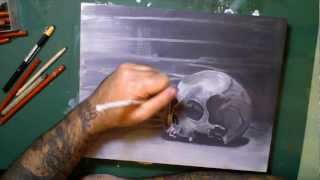Skull Painting Time-lapse