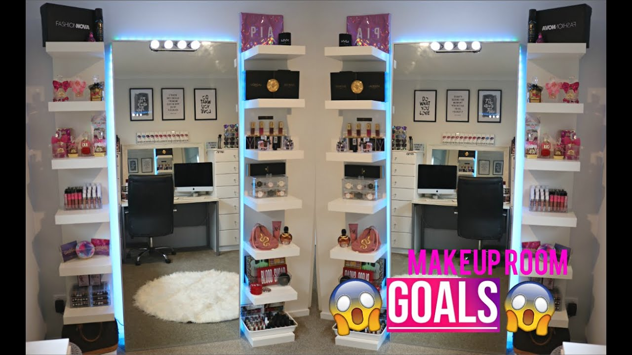 My Beauty Room Tour My Dream Makeup Room Youtube