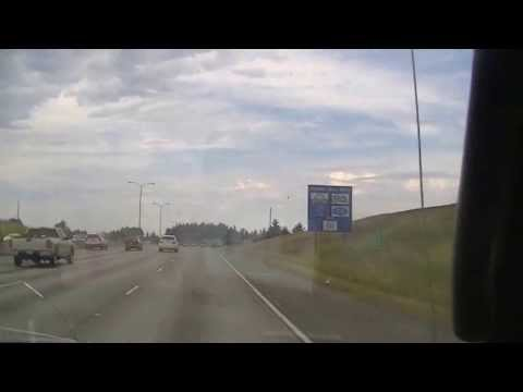 Interstate 5 northbound between Bridgeport and 56 ST exit, Tacoma, Washington