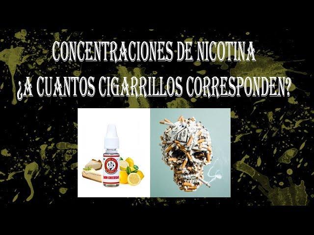 CONCENTRACIONES DE NICOTINA ¿A Cuantos cigarrillos corresponden?