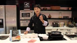 """How To Make """" Parma Ham Wrapped Cod With Caper Sauce"""" With Cooking Guru Chef Ian Kittichai"""