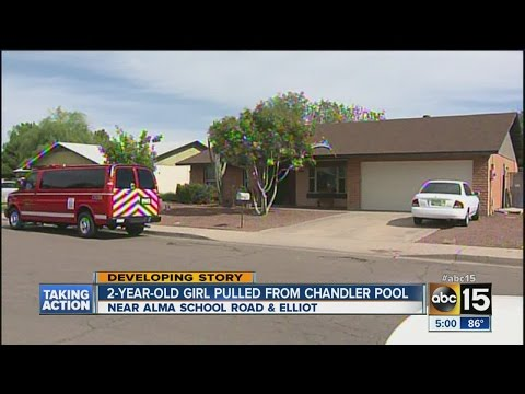 Toddler pulled from Chandler pool in critical condition