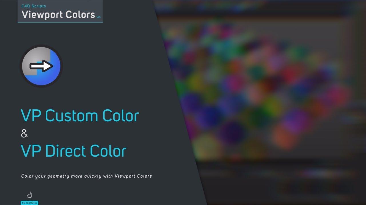 C4D Viewport Colors - aescripts + aeplugins - aescripts com