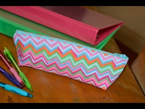 How to Sew a Pencil Case - YouTube