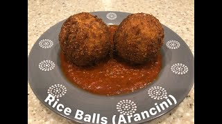 Arancini (Rice balls) made with a basic Risotto
