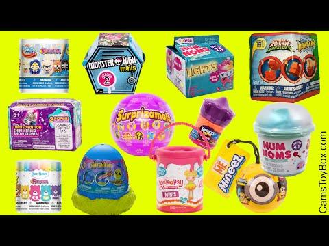 Toys Surprises Opening Fashems Care Bears Mashems Hatch Ems BlastEms Num Noms Lights 2 Squinkies Do