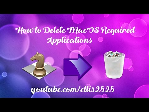 How To Delete MacOS Required Programs - MacOS Sierra
