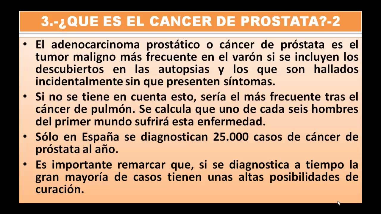Que es el cancer de prostata causas sintomas y tratamiento parte 1 youtube - Alimentos que evitan el cancer ...