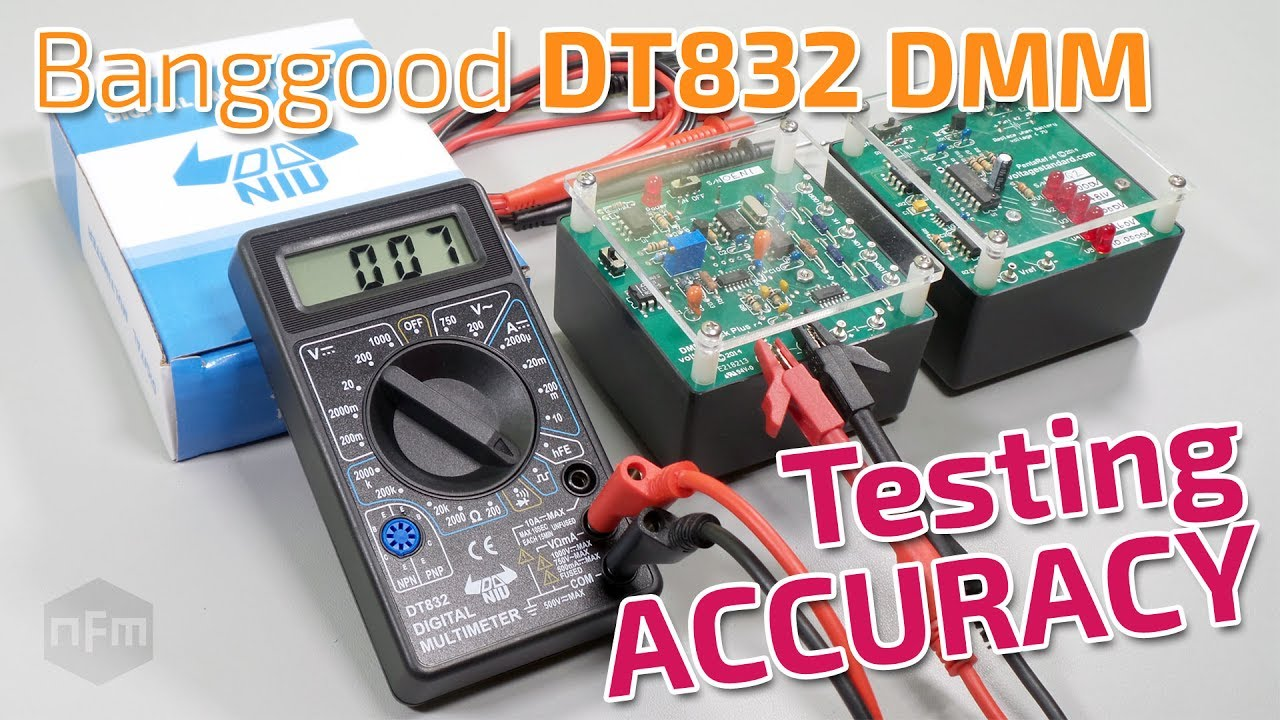 Banggood Dt832 Digital Multimeter Accuracy Testing Youtube How To Use A Dmm Using Radioelectronicscom