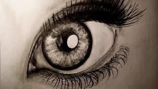 Как нарисовать реалистичный глаз ? / How to Draw a Realistic Eye(Как это нарисовано ? Смотрите как можно быстро нарисовать глаз карандашом на бумаге . ПРОСТЫЕ 3D рисунки..., 2015-10-08T07:27:18.000Z)