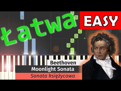 🎹 Sonata księżycowa (Moonlight Sonata, L. van Beethoven) - Piano Tutorial (łatwa wersja) (EASY) 🎹