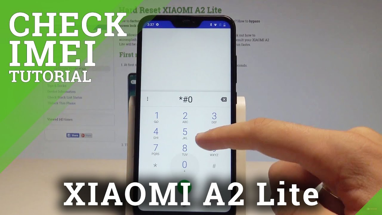 How to Check IMEI in XIAOMI A2 Lite - Find Serial Number ...