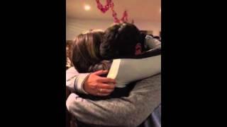 Marine moms Christmas surprise